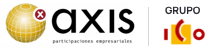 Logo AXIS y logo del Grupo ICO