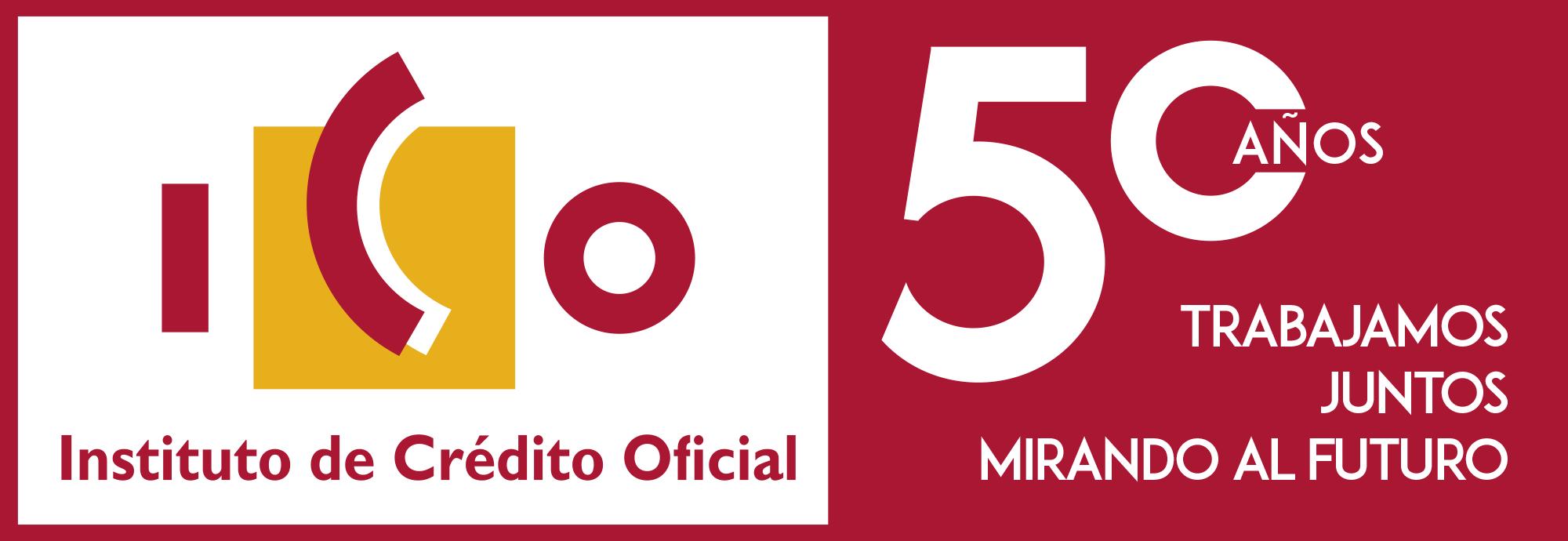Logo ICO 50 años trabajando juntos mirando al futuro.